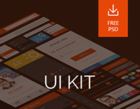 30+ Elements FREE Flat UI KIT