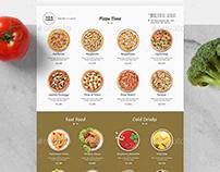 Minimalist Pizza Menu
