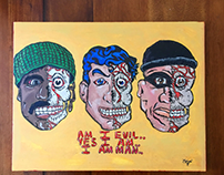 AM I EVIL.. 1 of 1 Acrylic Painting.