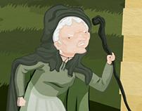 La Bella del Melograno - La vecchina e il principino