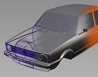 Volkswagen Golf GTI MK1 / Autodesk Alias 3D Model