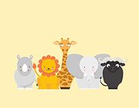 Animales de África - Ilustración