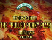 Rokna Pizzeria Menu - Pulled Pork Page