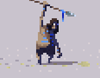 PixelArt sketches, December 2015