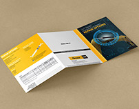 Informational product brochure print design