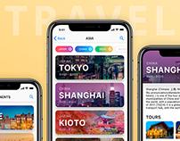 Travel destination finder. App