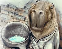"""Ilustración para exposición """"Salvemos Nuestros Futuro"""""""