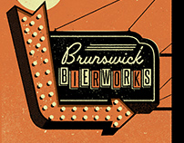 SIGN POSTERS FOR BRUNSWICK BIERWORKS