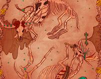 Western Halloween Pattern