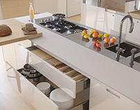 Poliform kitchen CGI