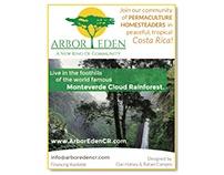 Ad Design: Arbor Eden Permaculture Community in C.R.
