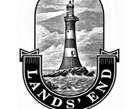 Lands' End Logo Identity Illustrated by Steven Noble