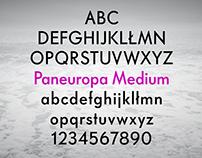 Paneuropa Nova Typeface