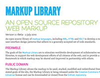 Markup Library