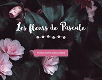 """Maquette Site """"Les fleurs de Pascale"""""""