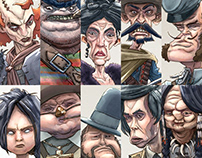 Wild West Character Designs