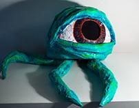 Paper Mache Work: Alien