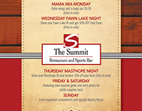 Summit Dine In Menu 2014 GDUSA Award WInner
