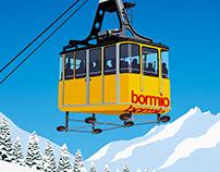Bormio Ski Poster