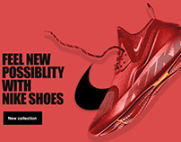 Nike shoes advertising web design