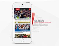 WIP - CDF Canal del Fútbol web proposal