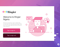 UI for Ringier product, Ringit.