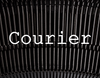 Courier font family / Print