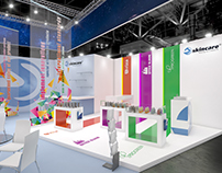 Graphics design for exhibition stands.