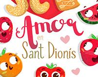 Amor en Sant Dionís. Ilustración infantil