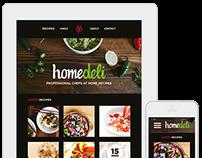 HomeDeli Cooking Blog Website