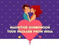 Infographic for honeymooners, honeymoon design