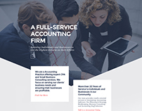 Free Divi Layout Designed for Accountants