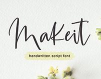 Makeit Handwritten Font