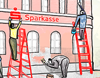 Sparkasse - illustration for the website
