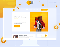 MineCraft Project - Desinity Craft #PSD #HTML Template.