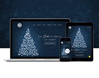 Webdesign - Ein Licht ein Baum