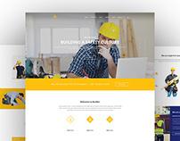 Construction webdesign concept