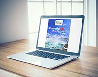 """E-book e posts """"Canadá inesquecível"""" da Mundo Color"""