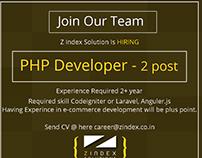 PHP Developer Job Banner Design