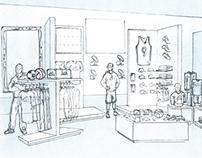 adidas Santa Monica Remodel Sketches