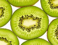 Sliced Kiwi Fruit Photography