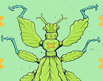 Northern Flowerhouse - Leaf Insect Poster