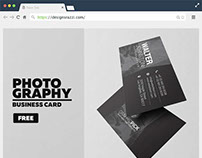 Photography Free PSD Business Card Template