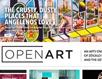 Open Art Web Page Design