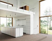 Minimalictic white interior