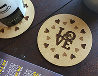 Laser Engraved Wooden Coasters for Horse Stuff