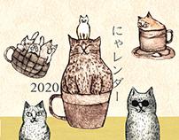 Original calendar 2020【nyalender】