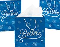 Believe Xmas Gift Bags