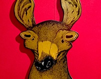 Doe a Deer (WoodCut)