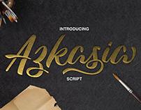 Azkasia Free Font | Script Font